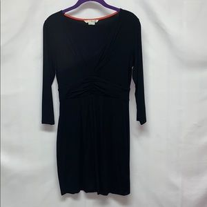 Boden fitted black T-shirt material sleeve dress